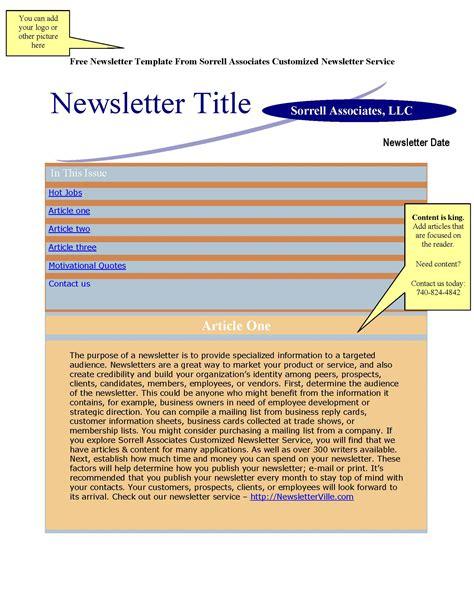 free templates for newsletters in microsoft word oyle kalakaari co