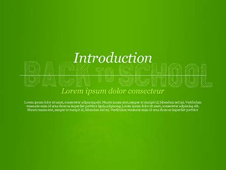 Back To School Powerpoint Template Free by Back To School On Chalkboard Powerpoint Template