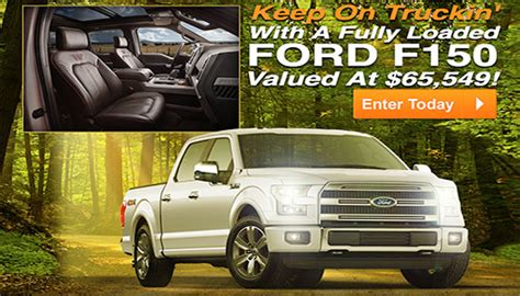 Win A Ford Truck Sweepstakes - pch car sweepstakes win a ford f 150 truck