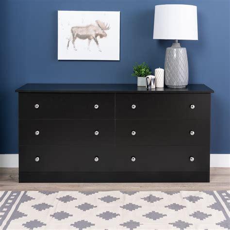 prepac black edenvale  drawer dresser home furniture