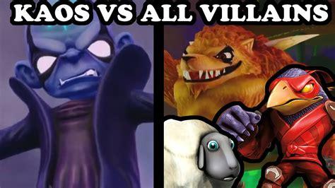 kaos goku vs enemy skylanders trap team kaos vs all villains ultimate