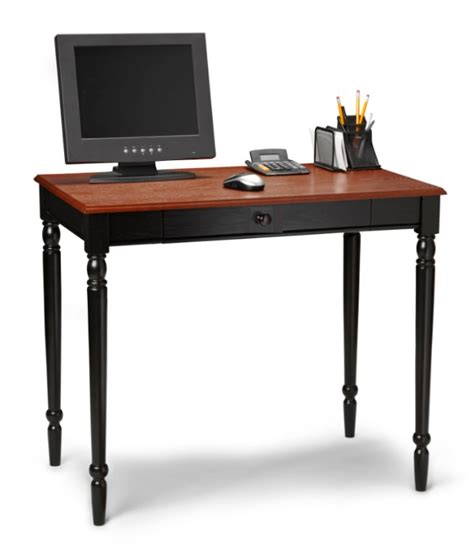 Black Wooden Computer Desk Country Cherry Black Wood Office Computer Desk Ebay
