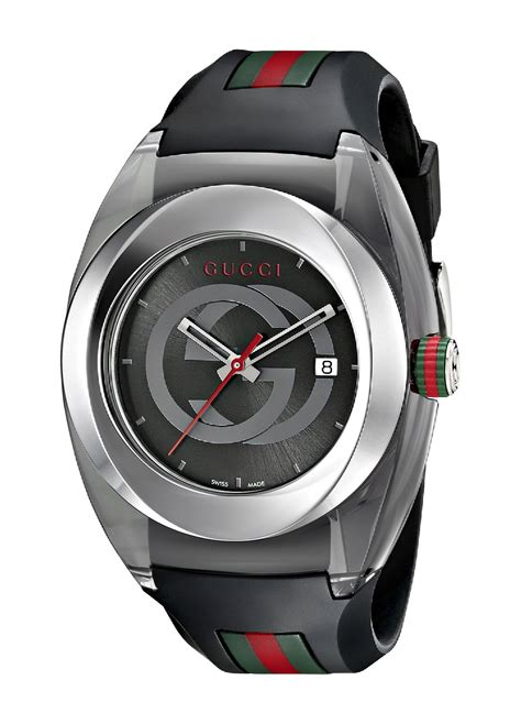 Unisex Black Rubber gucci sync black rubber unisex ya137101 jacobtime