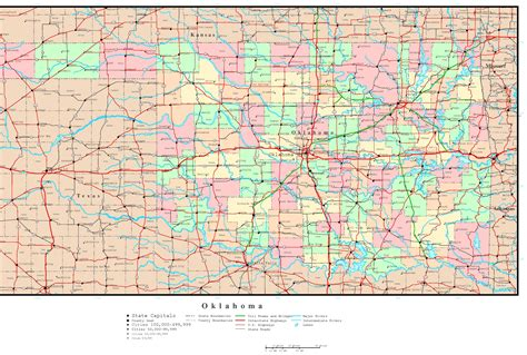 roadmap of oklahoma oklahoma road map with counties wisconsin map
