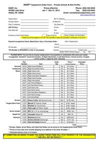 9 equipment order form templates free pdf excel format