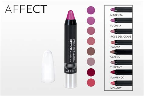 Maskara Caring Colours affect cosmetics twist up colour lipstick matt care pe芻uj 237 c 237 rt茆nka