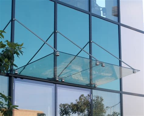 glass awnings canopies crl glass awning support system