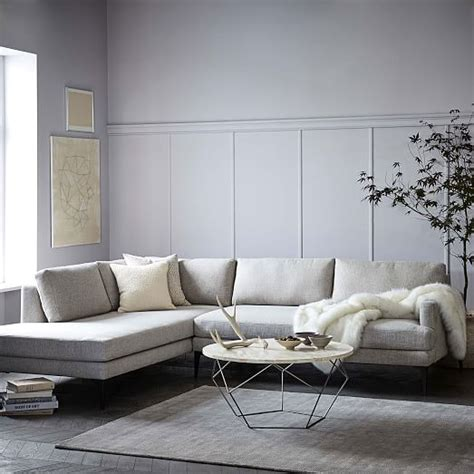 west elm andes sofa andes terminal chaise sectional west elm