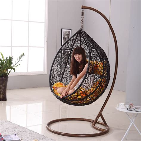 modern hanging chair japanese zen like black rattan indoor hanging chair