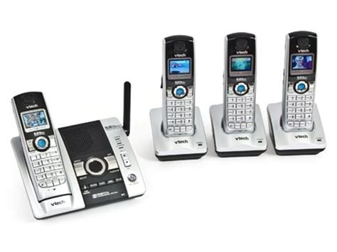 vtech 5 8ghz digital cordless phone with 4 handsets and digital answering system