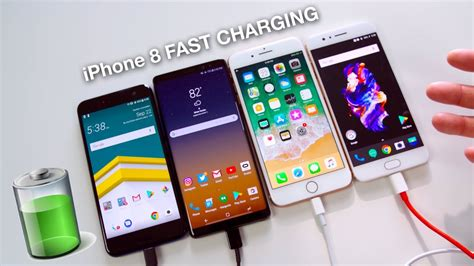 iphone 8 plus fast charging vs note 8 oneplus 5 htc u11 60 min