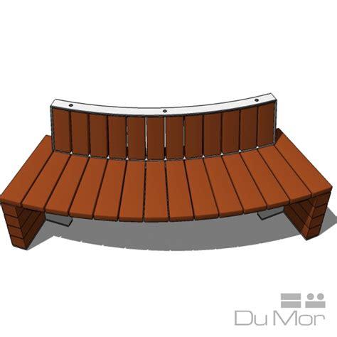 dumor bench curved bench 279 dumor site furnishings