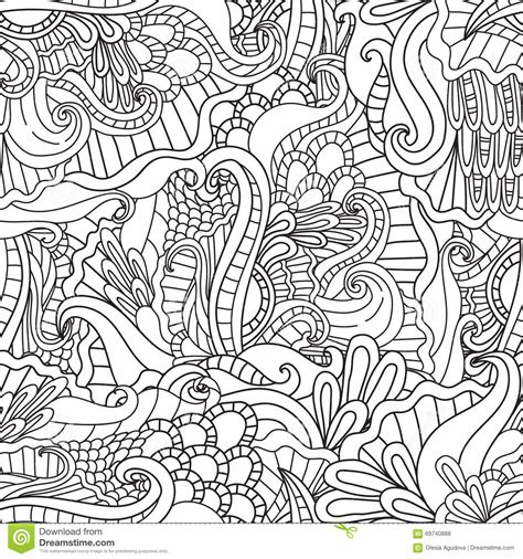 doodle nature coloring pages for adults decorative doodle