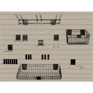 slat board home depot suncast handiwall 4 ft x 8 ft slat wall starter kit in