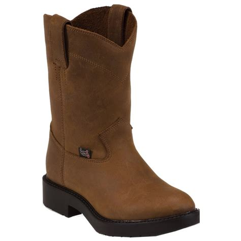 toddler work boots justin boots aged bark youth toddler brown work duty