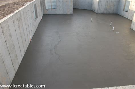 Pour Basement Concrete Slab For New Home   icreatables.com