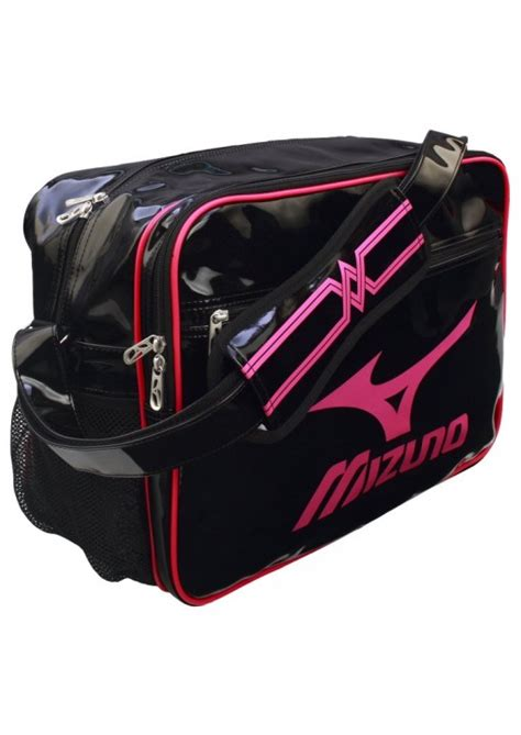 tas gymsack mizuno black sporty messenger bag mizuno enamel medium black pink dax sports