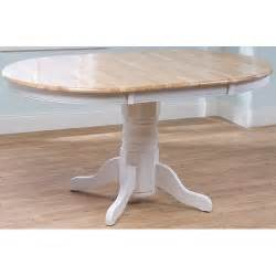 Oval Farmhouse Dining Table Country Farmhouse Dining Table Oval Kitchen Pedestal Wood Leaf Wooden Oak Ebay