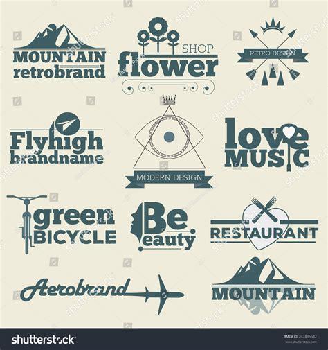 vintage vector design elements retro style typographic retro hipster vintage labels logo design vector typography