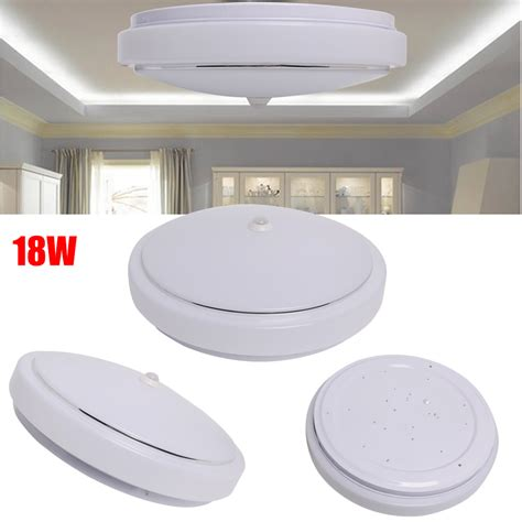 12w pir led flush mounted ceiling light infrared motion