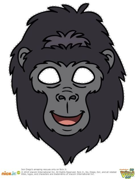 printable mask monkey 55 best brody s king kong birthday party images on