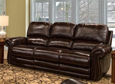 parker house sofa thurston power dual reclining sofa in havana leather by