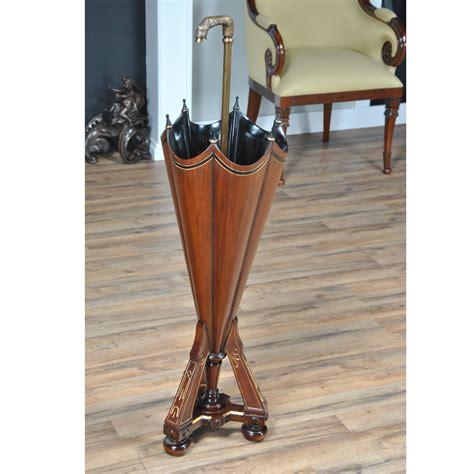 solid mahogany solid brass umbrella stand niagara furniture