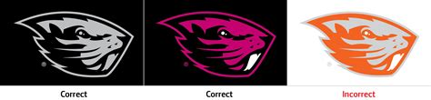 oregon state colors beaver logo relations and marketing oregon