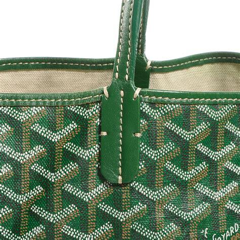 The Go Green Goyard St Louis Shopper Tote by Goyard Chevron St Louis Pm Green 76765
