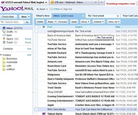 check yahoo email quota how to set up yahoo mail and outlook 2007 it computer
