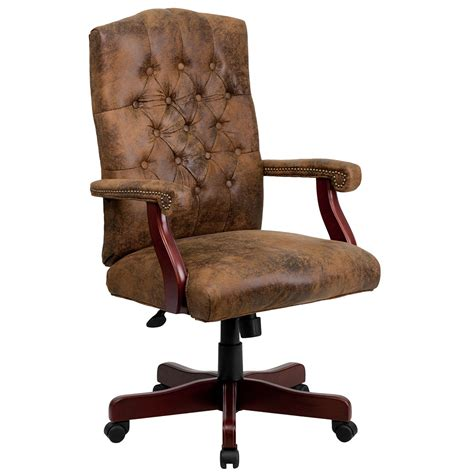 dark brown leather desk chair conference chairs leather executive chairs tx ca ny pa