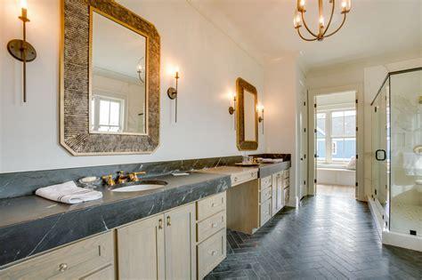 Soapstone Bathroom Countertops - stunning master bathroom with soapstone countertops
