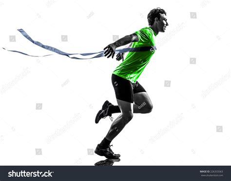 runner line one sprinter runner running stock photo 226333363
