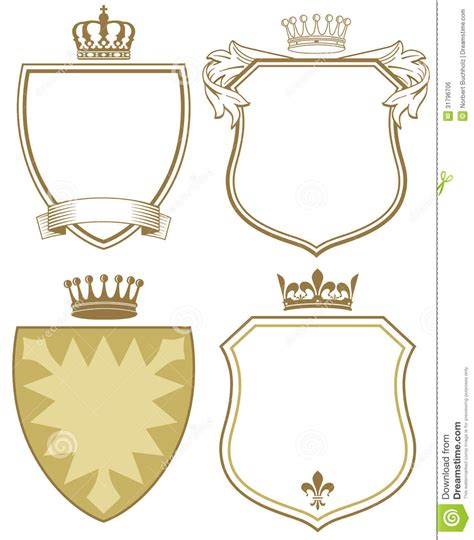 design free coat of arms coat of arms or shields royalty free stock image image