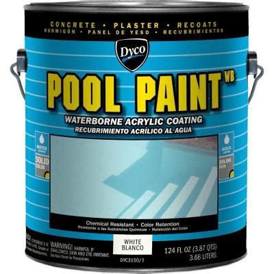 dyco paints pool paint 1 gal 3150 white semi gloss acrylic exterior paint dyc3150 1 the home