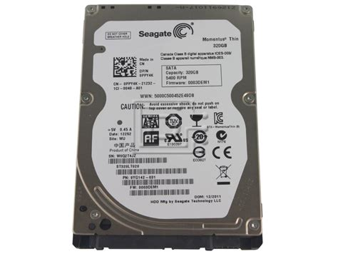 Hardisk Laptop 320gb Second seagate st320lt020 momentus thin 5 4k rpm 320gb sata