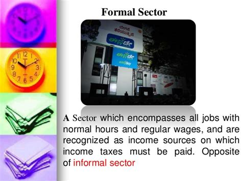 Difference Between Formal And Informal Sector Of Credit Informal Sector