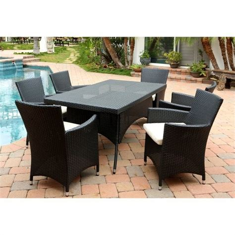 patio furniture pasadena ca abbyson living pasadena 7 wicker patio dining set in