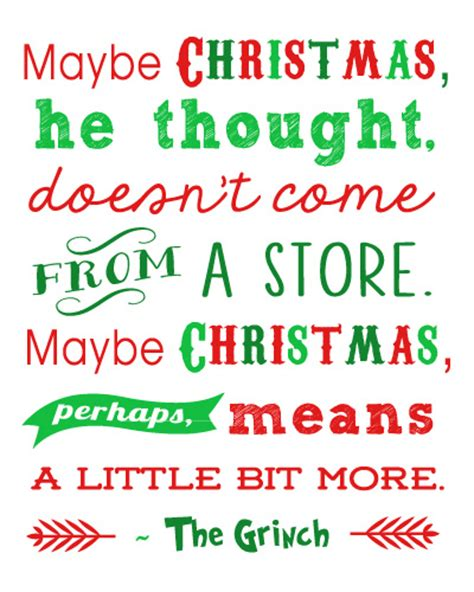 printable holiday quotes quotes about the grinch quotesgram