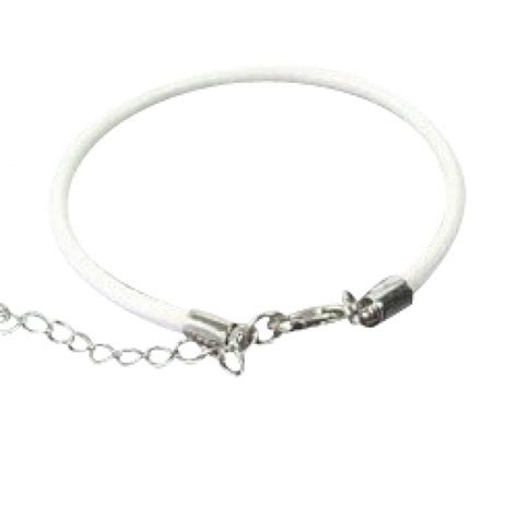 Woven Leather Bracelet With Charms White Baby Bracelets White Woven Leather Baby Bracelets Baby