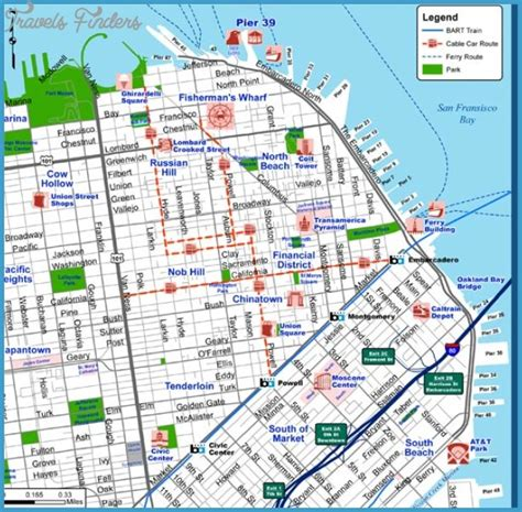 san francisco map sights san francisco oakland map tourist attractions travel