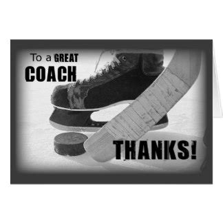 free printable thank you cards for hockey coach coach gifts on zazzle