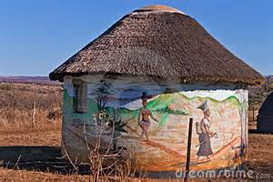 zulu homes traditional zulu dwelling royalty free stock photos