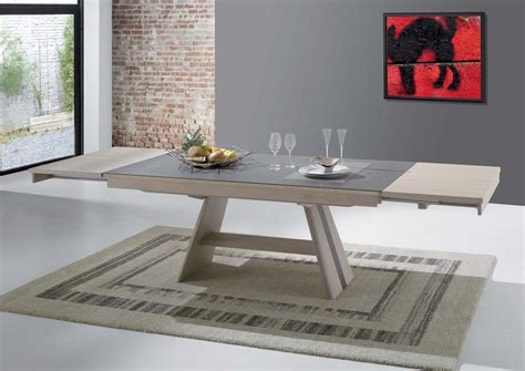 table pied central table carree pied central