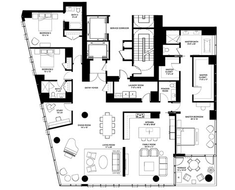 e floor plans 4 e elm floor plans chicago il luxury condos