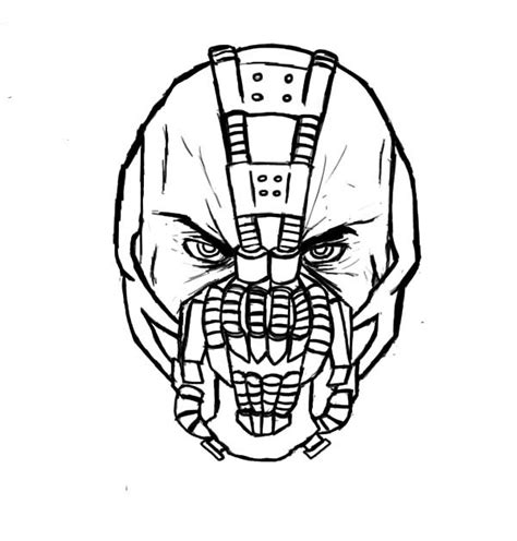 batman head coloring page free coloring pages of batman and bane