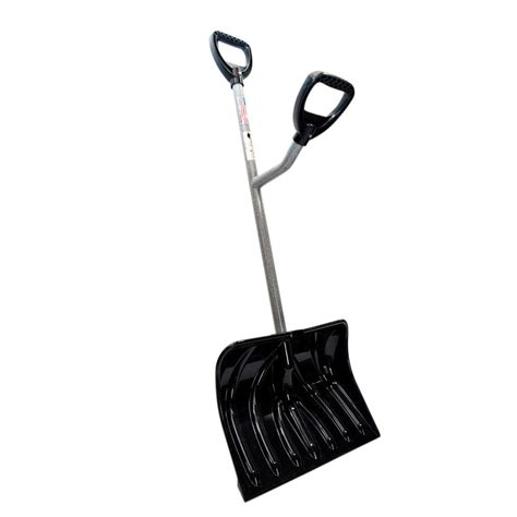 ergieshovel ergonomically designed two handled snow shovel