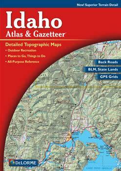 idaho delorme atlas road maps topography