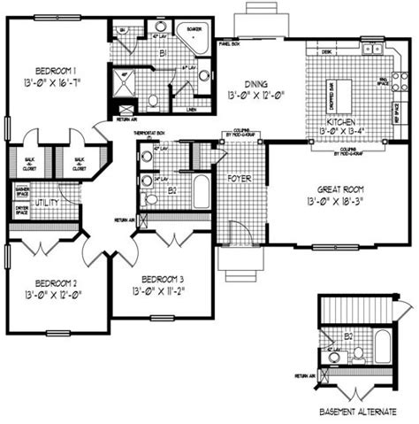modular floor plans ranch 17 best images about one floor ranch bungalow plans on