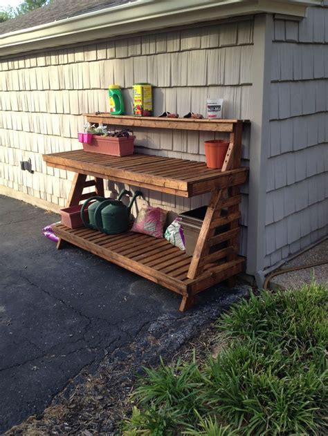 diy potting bench potting bench diy outdoor oasis pinterest